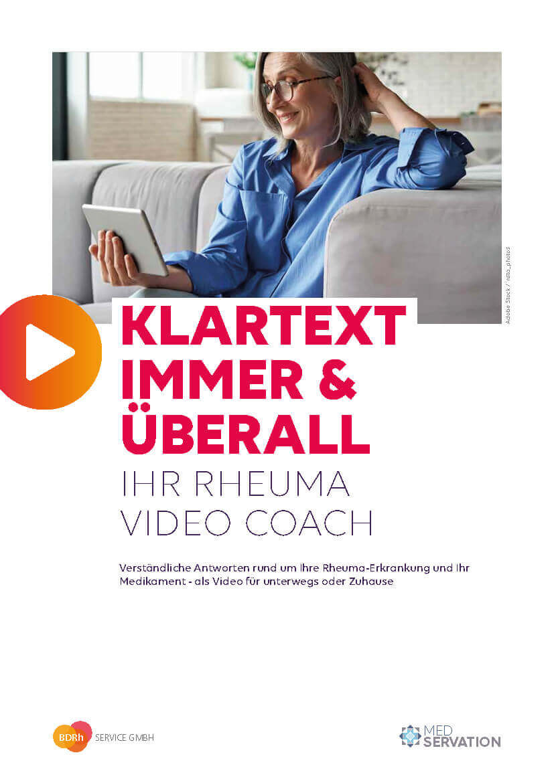 Titel Rheuma Video Coach Broschüre